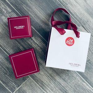 HELZBERG Diamonds Red Necklace Box